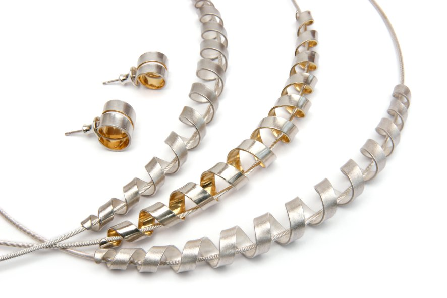 Spiral Collection by Daniela Dobesova - Elongated Spiral Pendants :  necklace jewelry jewellery pendant