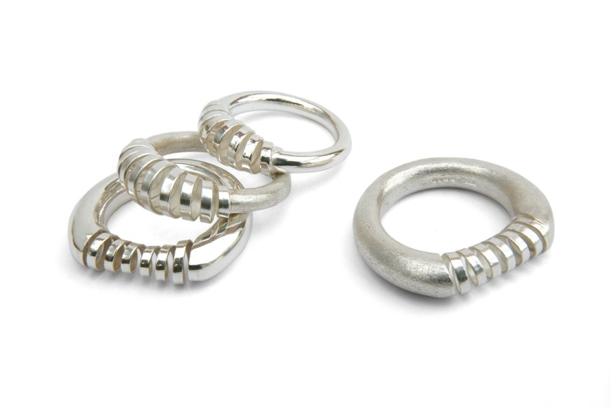 Spiral Collection by Daniela Dobesova - Spiral Designer Rings :  spiral designer rings jewelry