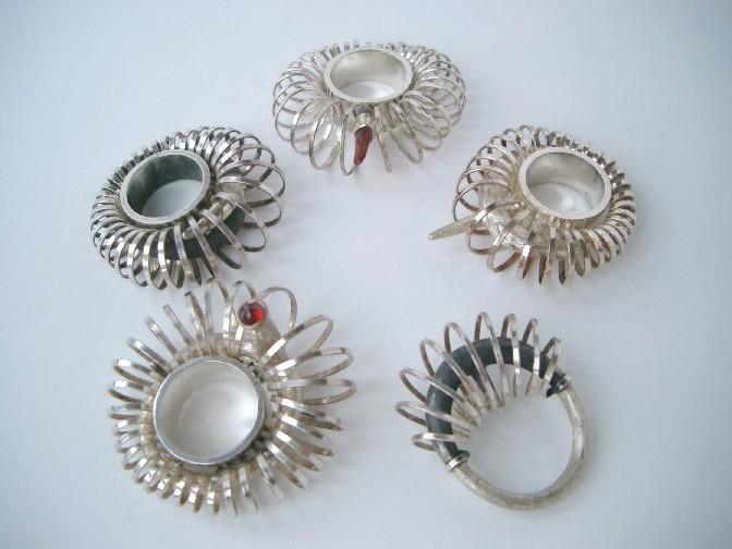 Spiral rings - designer jewellery by Daniela Dobesova